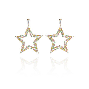 STUDDED STAR EARRING