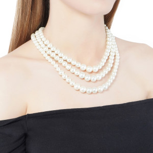 LAYER OF PEARLS  NECKLACE